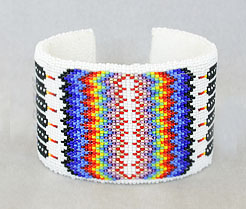 Comanche wide cut bead cuff