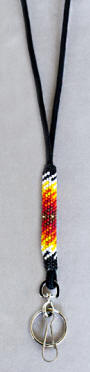 a3141 Black/multi beaded lanyard