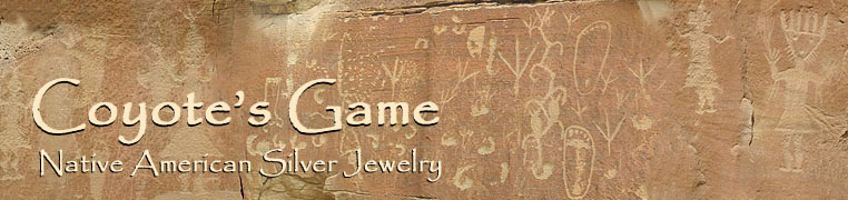Coyote's Game Native American Silver Jewelry, 
